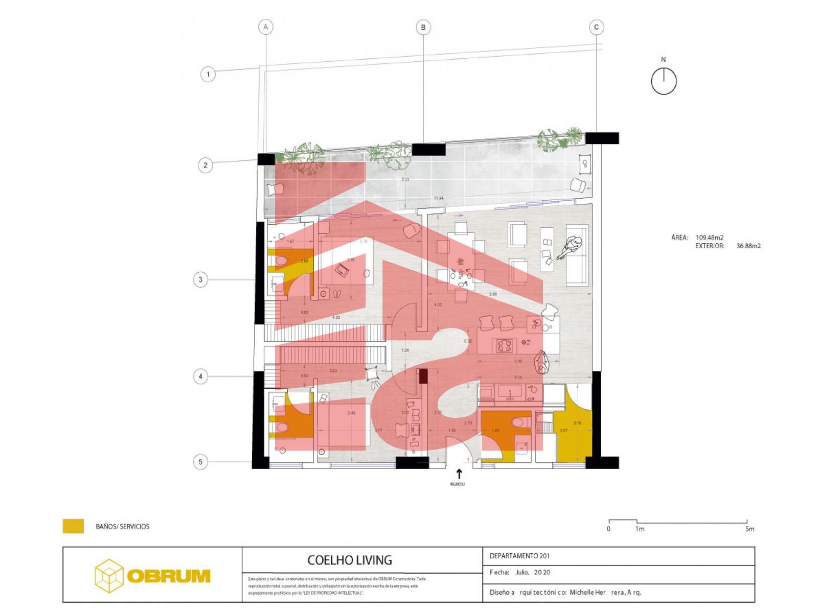Cumbayá, Pichincha, 2 Habitaciones Habitaciones, ,2 BathroomsBathrooms,Coelho Living,Venta,1105